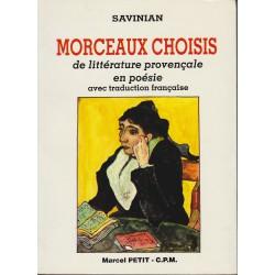 Morceaux choisis de littérature provençale en poésie - Savinian