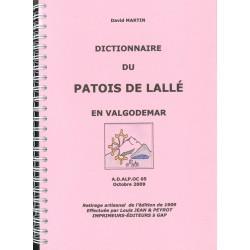 Dictionnaire du patois de Lallée en Valgodemar - David Martin