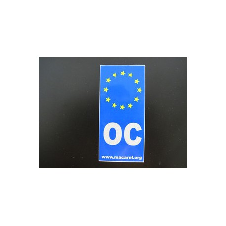 Sticker OC Europe for car license plates (Macarel)