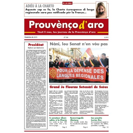 Prouvènço d'aro - Abonnement (1 year) - Cover December 2015