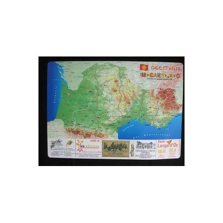 "Placemat ""Map of Occitania"" (Macarel)"