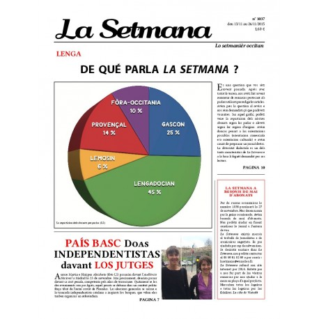 La Setmana - Abonnement (1 an) - Cobertura dau n°1037