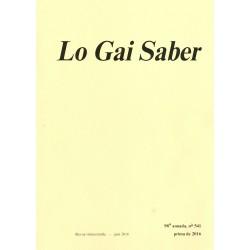 Lo Gai Saber - Abonnement (1 an) - Couverture 2016