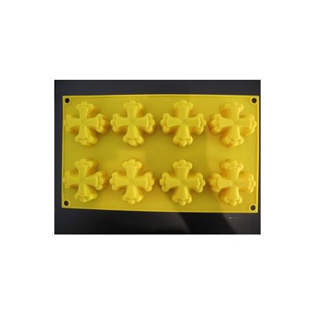 Moule silicone souple de 8 croix Òc