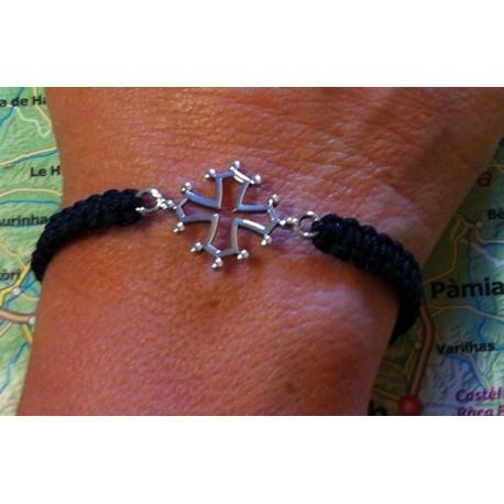 Bracelet croix oc argent massif