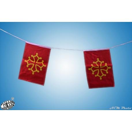 Guirlande de drapeaux occitans - Macarel