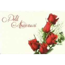 Carte postale - Polit Aniversari - roses