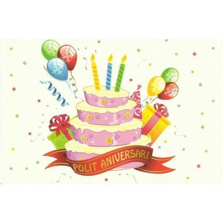 Carte postale - Polit Aniversari - gâteaux