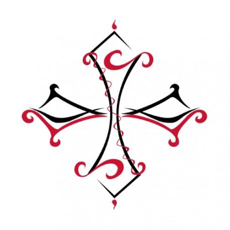 Tatouage éphémère Croix tribale