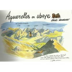 Aquarelles en Ubaye - Alexis Nouailhat - Couverture