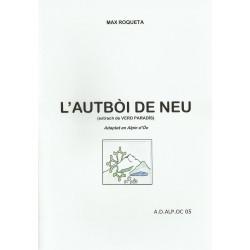 L'autbòi de neu - Max Roqueta - Couverture