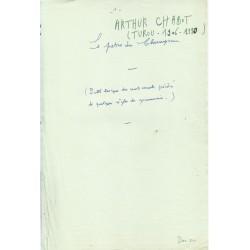 Le patois du Champsaur - Arthur Chabot (manuscript)