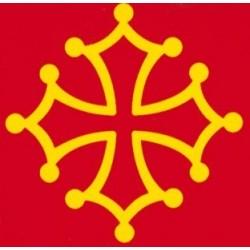 Auto-collant croix pour plaque immatriculation