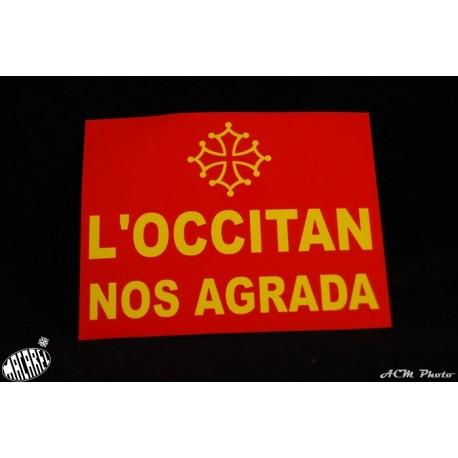 Autocollant l'occitan nos agrada