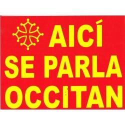 Autocollant Aicí se parla Occitan