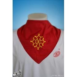 Foulard coton à croix Oc brodée