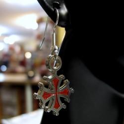 Boucles oreille croix oc metal