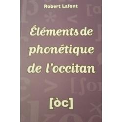 Éléments de phonétique de l'occitan - Robert Lafont - Couverture
