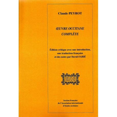 Claude Peyrot - Œuvre occitane complète - Couverture