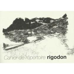 Cahier de répertoire rigodon