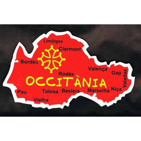 Autocollant carte d'Occitanie