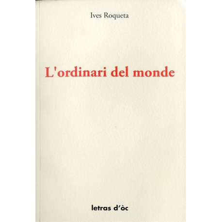L'Ordinari del monde - Ives Roqueta - Cover (Letras d'oc)