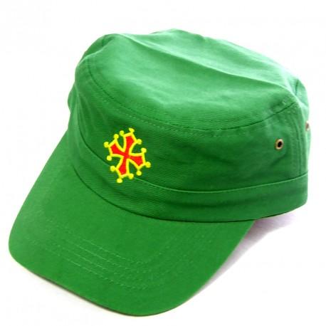 Caquette army verte à croix Occitane