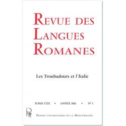 Revue des Langues Romanes - Tome 120 (2016 n°1)
