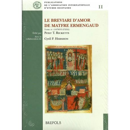 Le Breviari d'amor de Matfre Ermengaud - Tome IV - Cobertura