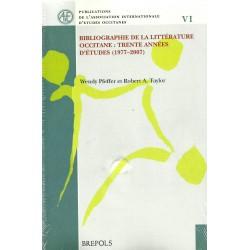 Bibliographie de la littérature occitane: trente années d'études (1977-2007)