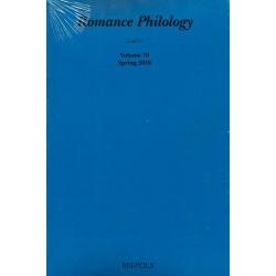 Romance Philology 70/1 (Spring 2016)