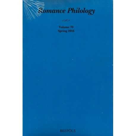 Romance Philology 70/1 (Spring 2016)