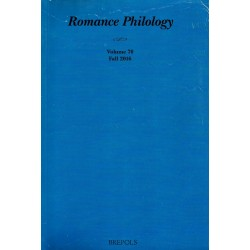 Romance Philology 70/2 (Fall 2016)
