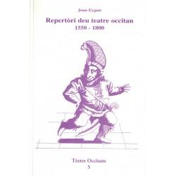 Repertòri deu teatre occitan 1550-1800 - Jean Eygun - Repertoire du théâtre occitan