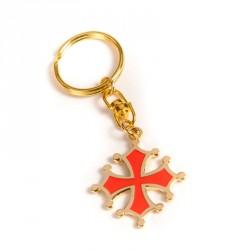 Porte-clefs Croix Occitane (découpée métal)
