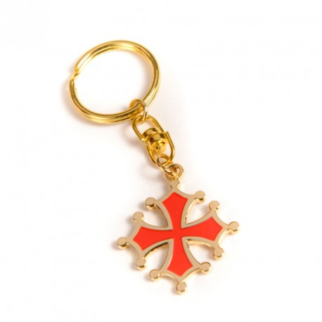 Keyring Occitan Cross