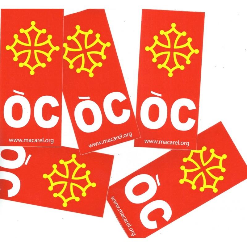 autocollant croix oc fond rouge pour les plaques d 39 immatriculation. Black Bedroom Furniture Sets. Home Design Ideas
