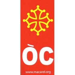 Autocollant Croix + OC pour plaques