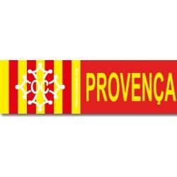 Autocollant Croix Oc blanche sur fond drapeau provençal + Provença