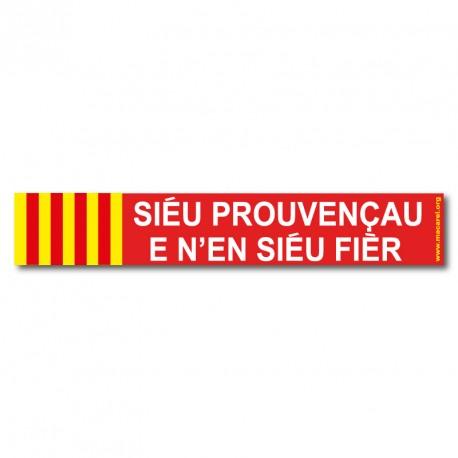 Autocollant «Sièu provençau e n'en sièu fièr !»
