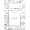 Diccionari Francés/Occitan, segon lo lengadocian TÒME III E-F-G - Rapin Christian