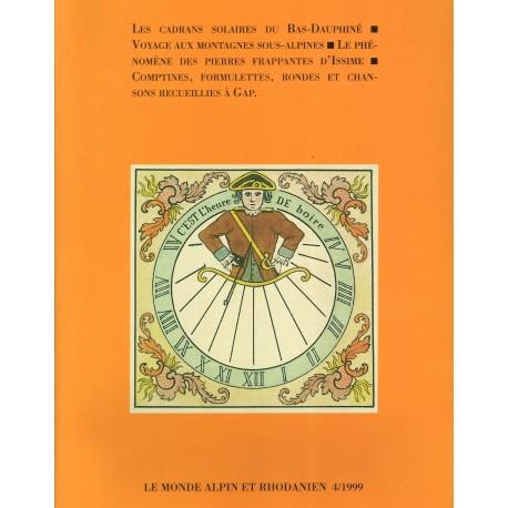 Le monde alpin et rhodanien - 4/1999 - Christian Abry et Alice Joisten
