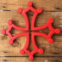Dessous de plat Croix Occitane (fonte rouge)