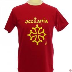 T-shirt Occitània caligrafia (òme)