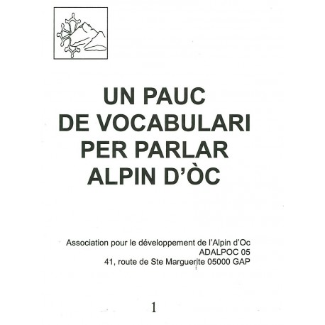 Un pauc de vocabulari per parlar alpin d'òc