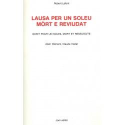 Lausa per un soleu mòrt e reviudat - Alain Clément et Claude Viallat