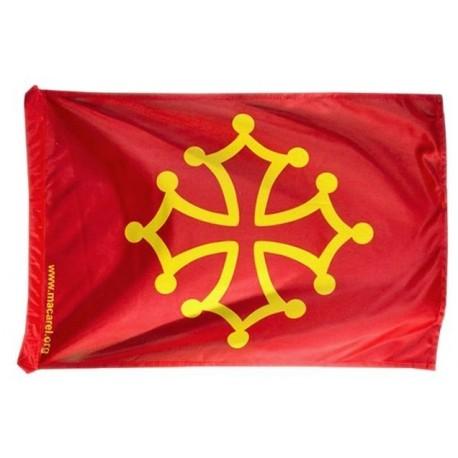 Drapeau occitan (rouge sang et jaune or) - Polyester 20 x 30 cm