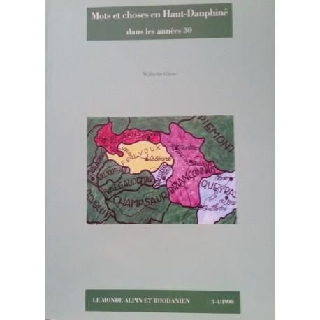 Mots et choses en Haut-Dauphiné dans les années 30 - Wilhem Giese