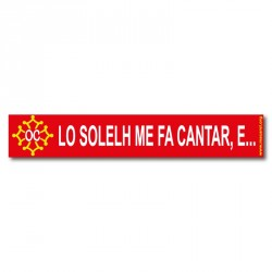 Autocollant «Lo solelh me fa cantar, e… » en occitan