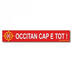 Sticker « Occitan cap e tot ! » (Occitan from head to toes)